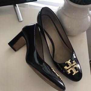 Patent leather Tory Burch Logo heels
